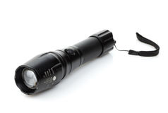 Metal flashlight Royalty Free Stock Image