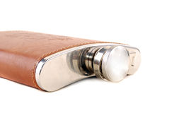 Metal flask Royalty Free Stock Photography