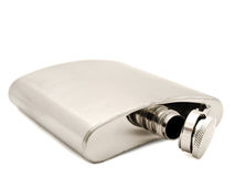 Metal flask Royalty Free Stock Photos
