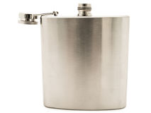 Metal flask Royalty Free Stock Photos