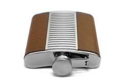 Metal flask for alcohol Royalty Free Stock Photography
