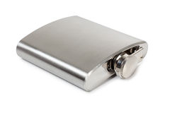 Metal flask drink Stock Photography