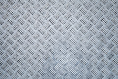 Metal floor,  diamond plate relief pattern Royalty Free Stock Photo