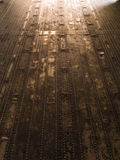 Metal floor on military plane. With light effect on exit Stock Images