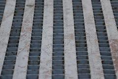 Metal sieve floor. Metal floor at pier,Thailand Stock Photos