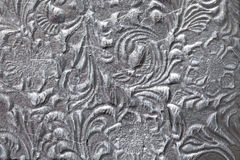 Metal with floral pattern Stock Photos
