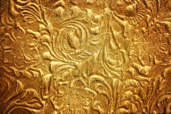 Metal with floral pattern Royalty Free Stock Photography