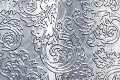 Metal with floral pattern Stock Images