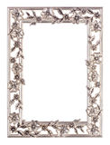 Metal floral picture frame. Metal floral style picture frame isolated on a white background Stock Photography
