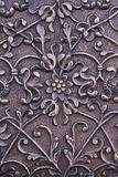 Metal floral sculpture Royalty Free Stock Images