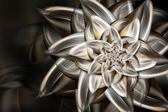 Metal flower vector illustration