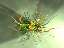 Metal Flower 4. 3D Illustration. Decorational metal Flower Royalty Free Stock Photo