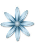 Metal flower. Illustration with clipping path Royalty Free Stock Photos