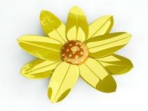 Metal Flower. 3D Illustration. Decorational metal Flower Royalty Free Stock Images