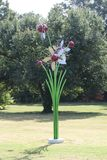 Metal Flower Statue At The Cancer Survivors Park