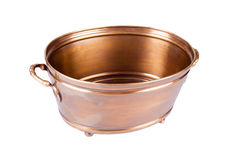 Metal flowerpot. On a white background stock photography