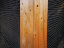 Metal Foldable Doors Background Viewed At the Corner. Metal Foldable Corrugated Doors Background Viewed At the Corner Stock Photography