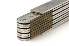 Metal folding rule Royalty Free Stock Photography