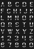 Metal font. Vector letters and figures with effect of metal Royalty Free Illustration