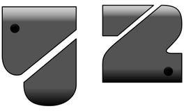 Metal Font Stock Image