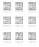 Metal font Button A - I Royalty Free Stock Photos