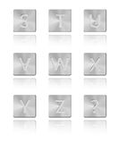 Metal font Button S - Z Stock Photography