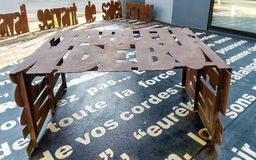 Metal Font Rusted Table Royalty Free Stock Photos