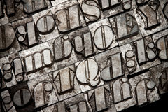 Metal font typography Stock Photography