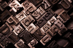 Metal font typography Stock Image