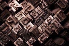 Metal font typography Stock Image