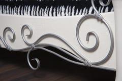 Metal forged detail on furniture Stock Image