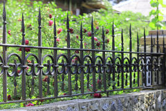 Metal forged fence Royalty Free Stock Photography