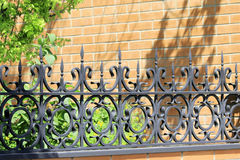 Metal forged fence Royalty Free Stock Image