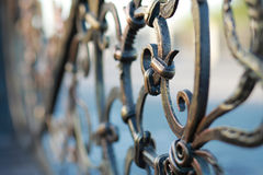 Metal forged fence Stock Images