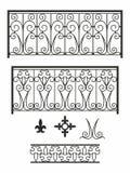 Metal forged kratownicę z geometrycznymi wzorami w obywatela stylu ilustracja wektor