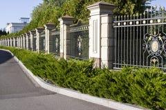 Metal forged ogrodzenie zdjęcia royalty free