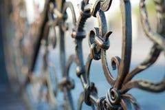 Metal forged ogrodzenie obrazy stock