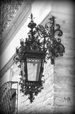 Metal forged outdoor lamp (Peles castle details) Stock Image