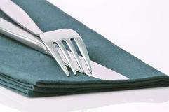 Metal fork and knife Stock Images