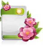 Metal form with violet flowers stock illustration