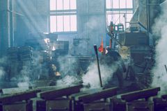 Metal foundry in Latvia. Travel photo. stock photography