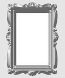 Metal frame. A metal picture frame  for photos. Art illustration Stock Image