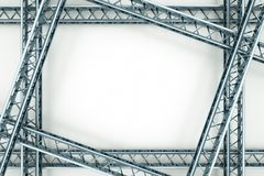 Metal frame Stock Image