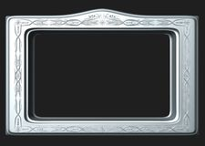 Metal frame. Abstract 3d style for backgrounds royalty free illustration