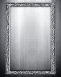 Metal frame background Stock Photo