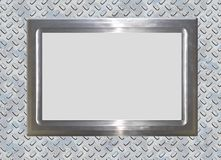 Metal frame and background Stock Image