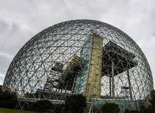 Metal frame of the biosphere in Montreal royalty free stock images