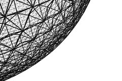 Metal frame of the biosphere in Montreal. A picture of the metal frame of the biosphere in Montreal stock photos