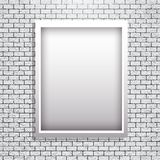 Metal frame on brick wall vector Royalty Free Stock Photography