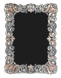 Metal frame with brown enamel, gems and place for Royalty Free Stock Images